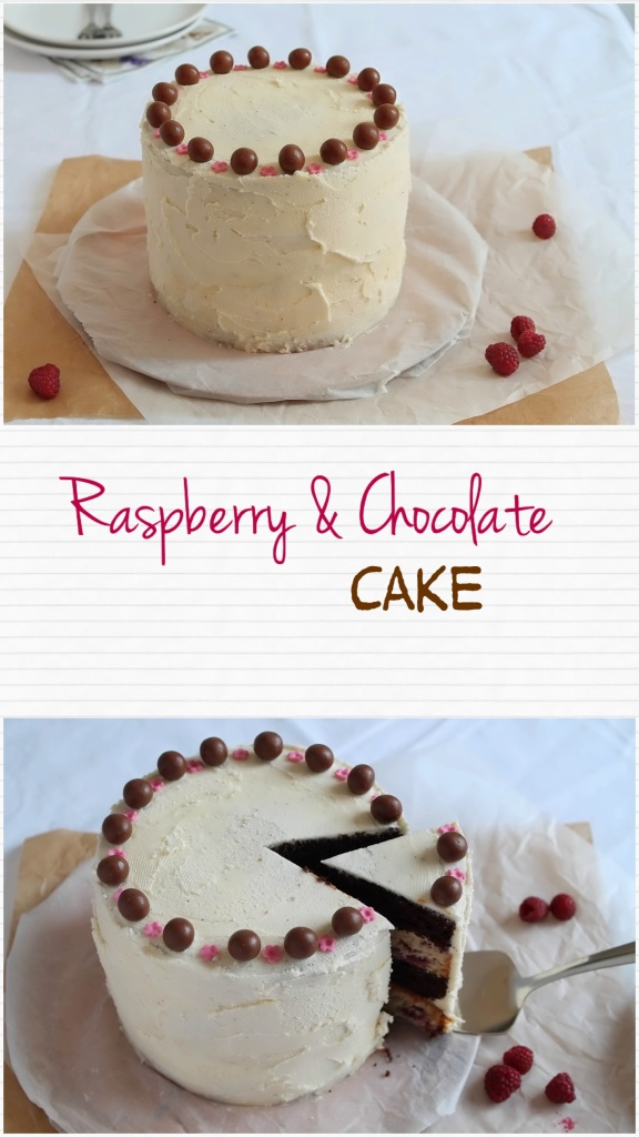 Raspberry & Chocolate cake - daniscookings.wordpress.com